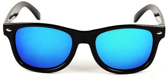 b0e161ca88b2e2 Kinder Wayfarer Zonnebril - Blauw op Zwart