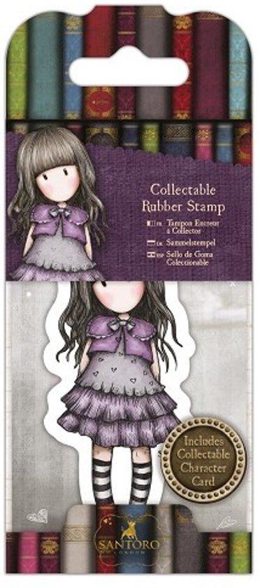 Gorjuss: Collectable Mini Rubber Stamp - Santoro - No. 32 Little Violet (GOR 907412)