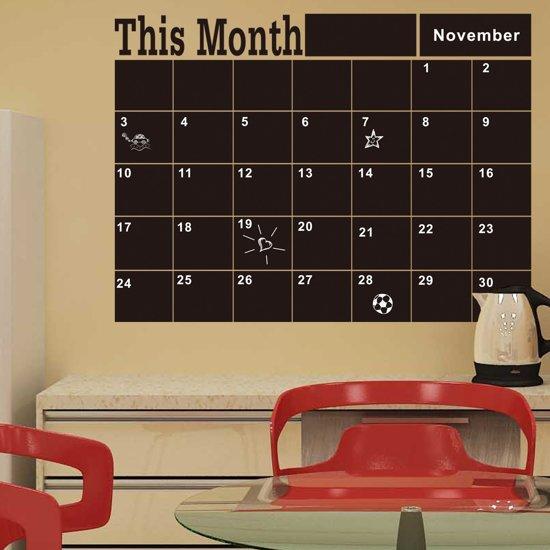 Bol Com Maandplanner Krijtbord Sticker Met Krijtstift
