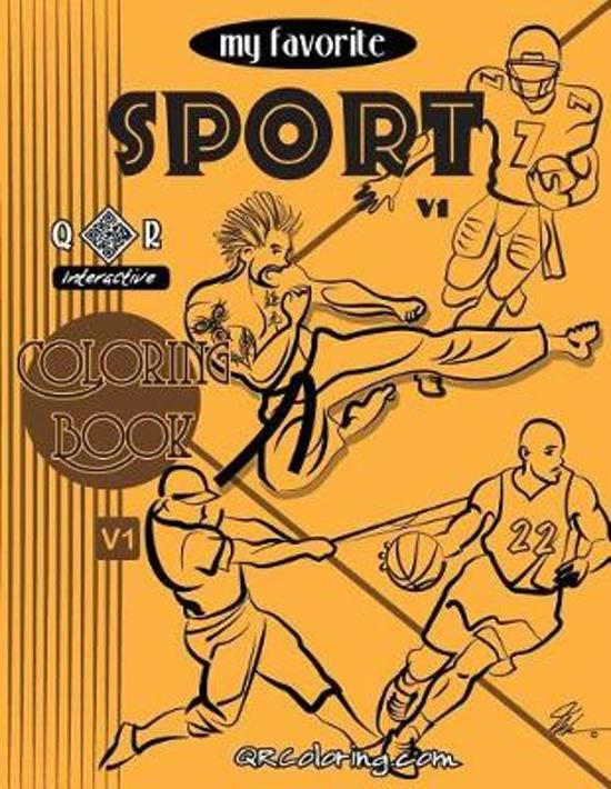 Boek cover My Favorite Sport Coloring Book van Mike Browne (Paperback)