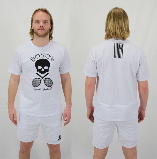 Bones Sportswear Cotton Unisex T-shirt White maat L