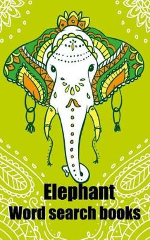 Elephant -Word search books