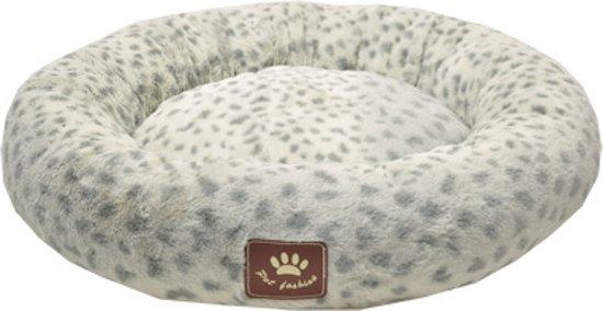 Hondenkussen donut spotty grijs/wit 45 cm
