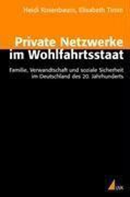 Private Netzwerke im Wohlfahrtsstaat