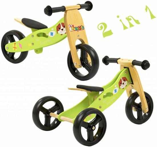 2Cycle 2-in-1 Driewieler Hout Groen (1320) - Loopfiets