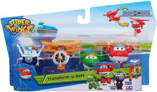 Super Wings  Transforming  Mini Jett、Albert、Mira、Paul - Speelfiguren