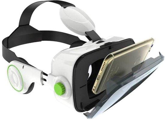 Hyper VR Bril met 3D surround sound headphones - Wit