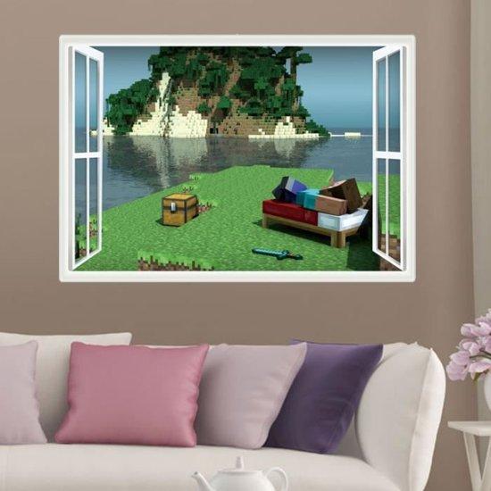 bol.com | 3D Minecraft Game Muursticker / Muurposter Jongens Slaapkamer