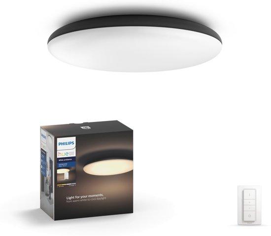 Philips Hue Cher - Plafonnière - 1 Lichtpunt - zwart - 1 x 3000lm - Incl. Dimmer Switch