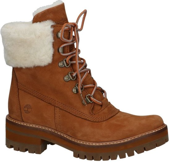 Timberland Courmayeur Valley 6in Boot With Authentic Shearling Lining Boots Dames Maat 36 Cognac F13 Rust Nubuck (Saddle)