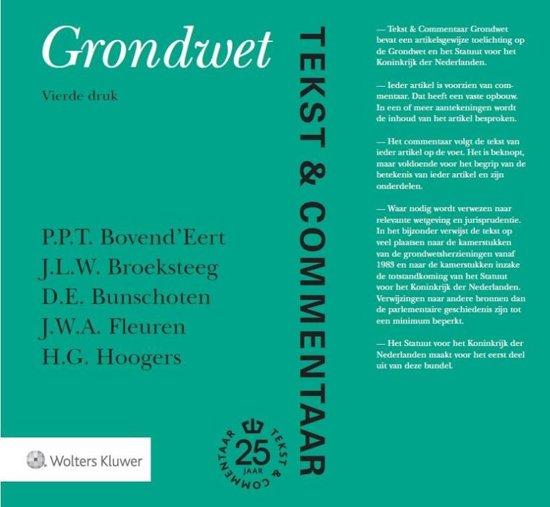 Boek cover Tekst & Commentaar - Grondwet van P.P.T. BovendEert (Hardcover)