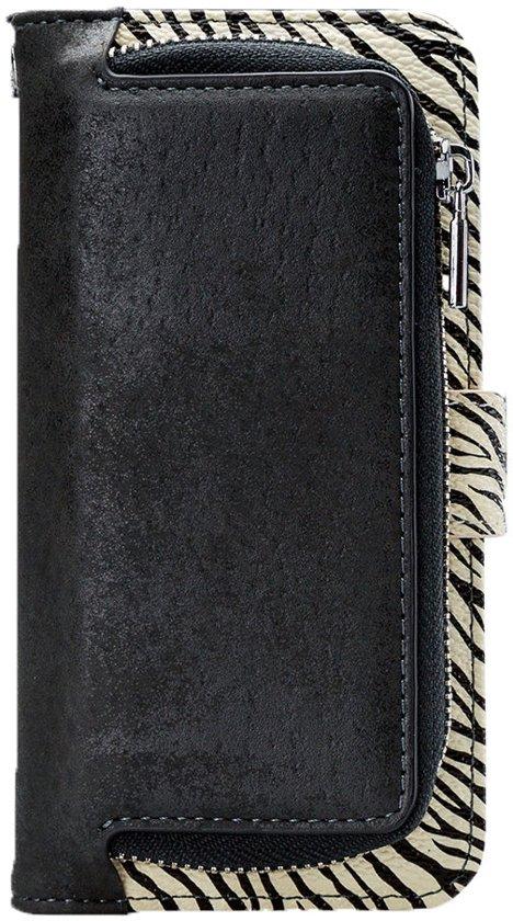 Mobilize - iPhone Xr Hoesje - Uitneembare Gelly Wallet Case Zebra Zwart