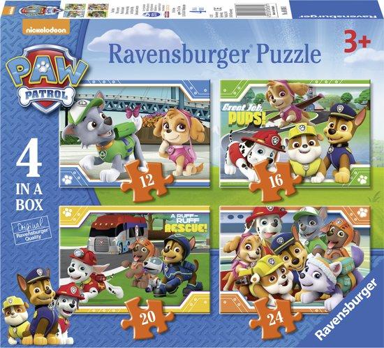 Afbeelding van Ravensburger Paw Patrol 4in1box puzzel - 12+16+20+24 stukjes - kinderpuzzel speelgoed