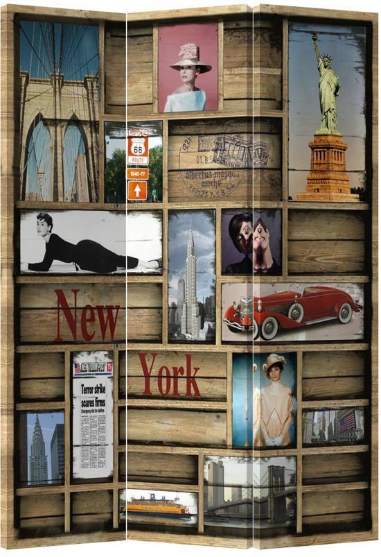 Bolcom Orientique Kamerscherm 3 Panelen New York Kast