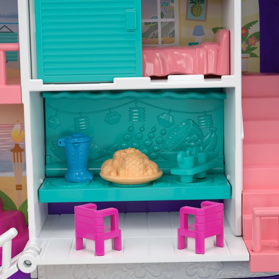 Polly Pocket Geheime Plekken Strandfeestje Rugzak - Speelfigurenset