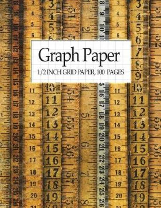 graph paper 1 2 inch grid paper 100 pages cool school