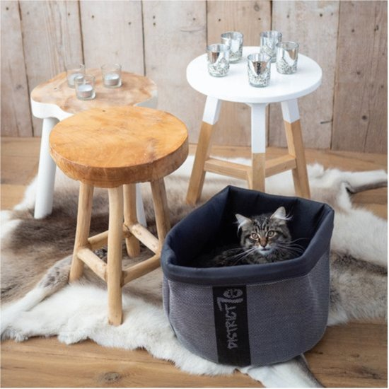 District 70 COZY Kattenmand - Grijs - 35 x 35 x 30 cm