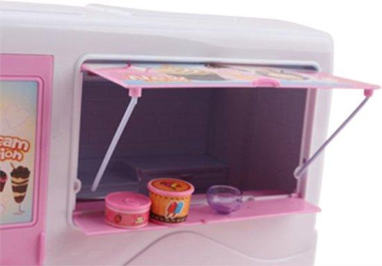 IJsco Truck - Geschikt voor Barbie - Met muziek en accessoires