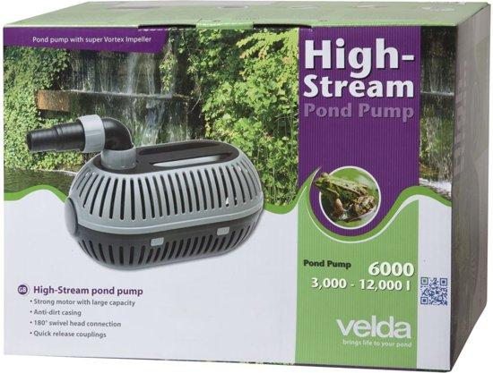 Velda vijverpomp vijverpompen high stream 6000 for Vijver pompen