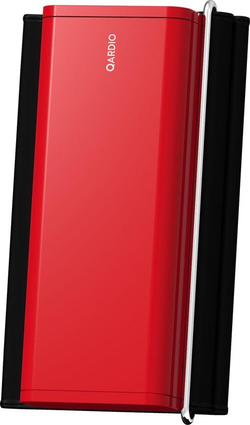 QardioArm draadloze bloeddrukmeter: compact en draagbaar manchet voor de bovenarm - compatibel met bluetooth voor Apple- en Android-toestellen, Rood