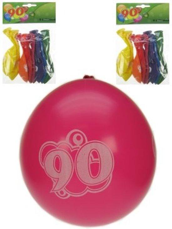 Ballonnen 90 jaar 8 stuks