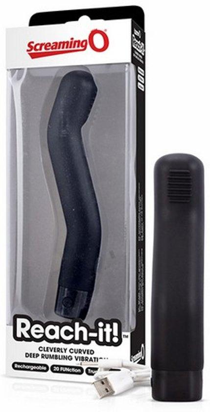 The Screaming O - Reach-it! Vibrator Zwart