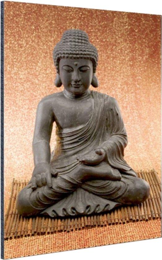 FotoCadeau.nl - Hindoe Boedha standbeeld Aluminium 60x90 cm - Foto print op Aluminium (metaal wanddecoratie)