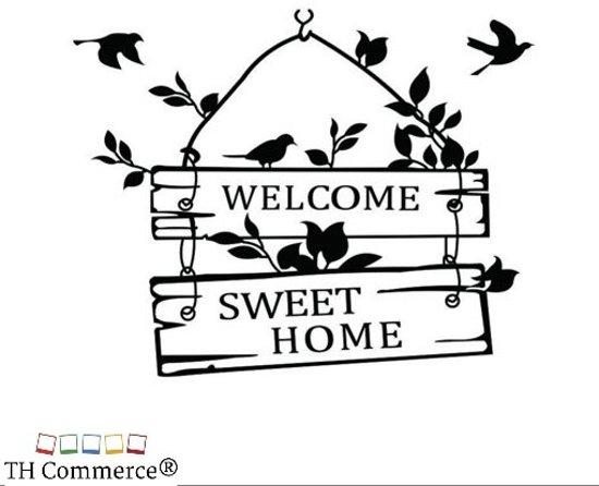 bol.com | MUURSTICKER TEKST - WELKOM SWEET HOME - WANDDECORATIE ...
