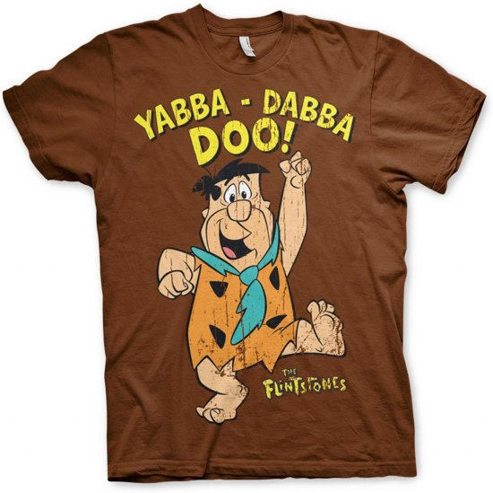 THE FLINTSTONES - T-Shirt Yabba-Dadda-Doo - Brown (S)