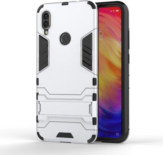 Mobigear Shockproof Hoesje Kickstand Zilver Xiaomi Redmi Note 7