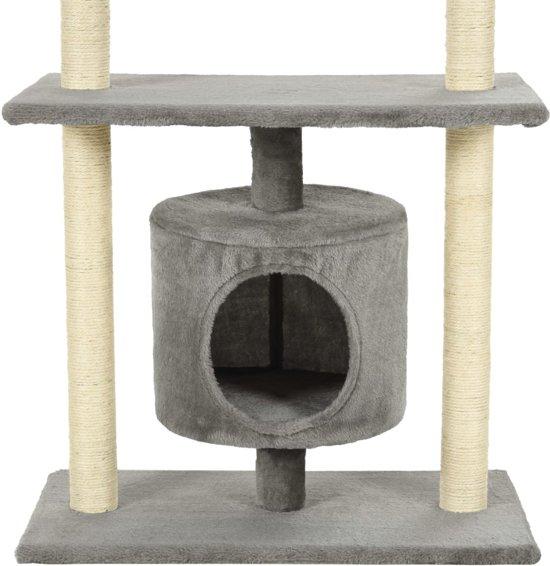 vidaXL Kattenkrabpaal met sisal krabpalen 95 cm grijs