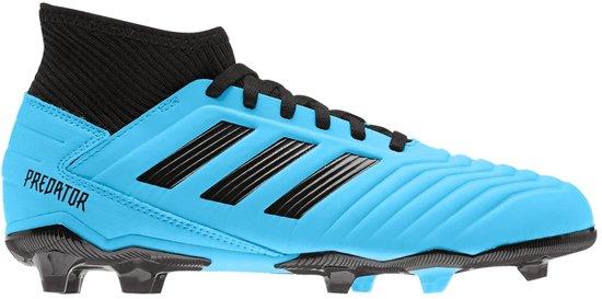 Adidas Voetbalschoenen 19.3 fg JR- Lichtblauw/Zwart- Maat 35.5