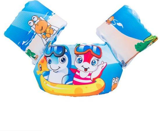 Zwemvest - Dolfijn Broertjes Design - One Size - Kind - 14-30 KG - 3-7 Jaar