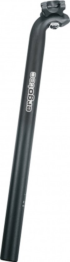 Ergotec - Zadelpen - 400 mm x 31,6 mm - Aluminium - Zwart