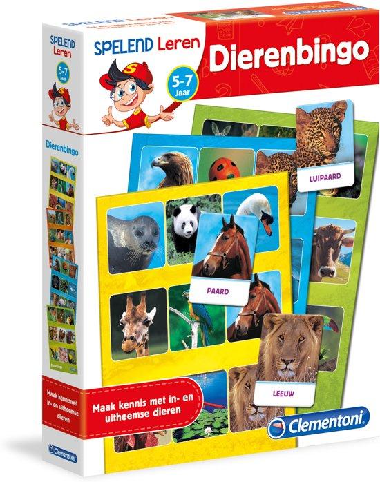 Clementoni - Spelend leren - Dierenbingo