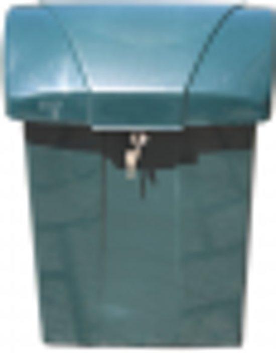 Kunststof brievenbus groen COFA 7996 met slot
