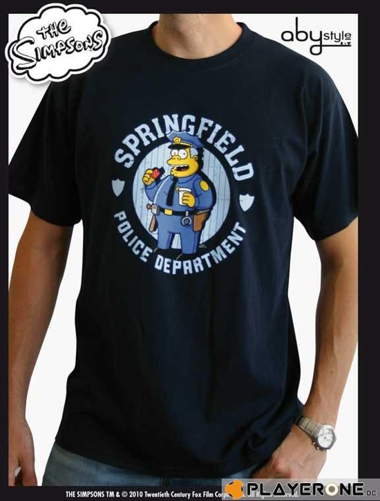 SIMPSONS - T-Shirt Homme Navy Blue Police (S)