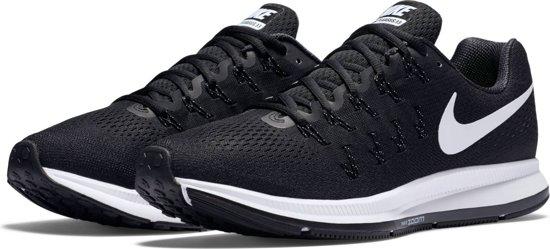 Nike Air Zoom Pegasus 33 - Hardloopschoenen - Unisex - 831352-001 - Maat 42,5 - Zwart