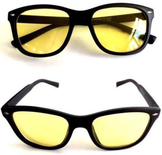 4d420be619276a Nachtbril - Zwart   Geel - Autobril - Night Vision