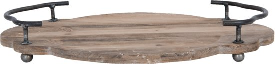 Dienblad 37*27*5 cm Bruin | 6H1301 | Clayre & Eef