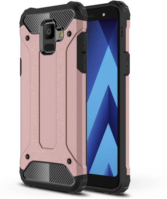 Armor Hybrid Hoesje Samsung Galaxy A6 (2018) - Rose Gold