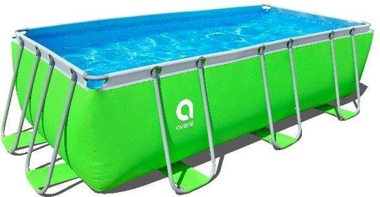 Jilong opzetzwembad mistral set rechthoek groen for Opzet zwembad rechthoek