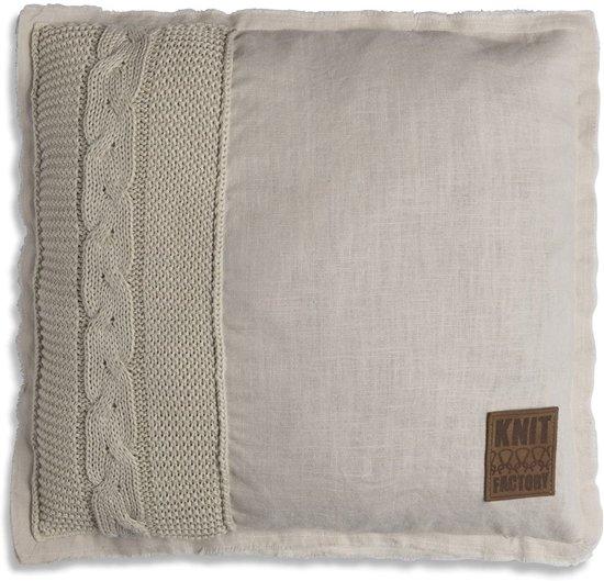 Knit Factory Jill kussen kleur Beige 50 x 50 cm