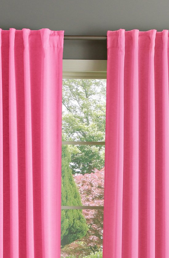 ᐅ • ELLA 2 stuks Gordijn Verduisterend Roze 150x250 cm. Kant en ...