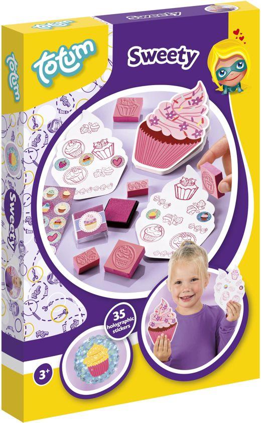 Totum Sweety - knutselset - maak je eigen cupcake stempelcreaties
