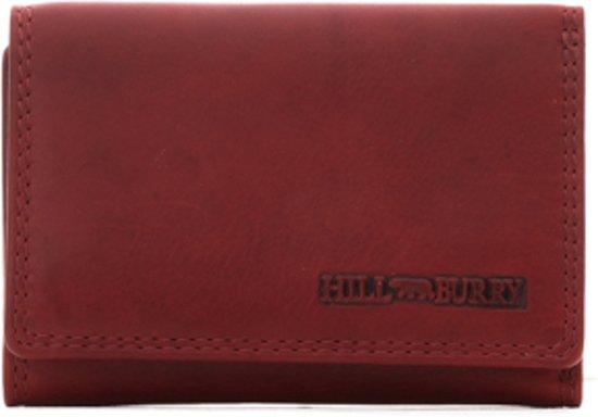 da577e970ac HillBurry - VL777031 - 5035 - rood - dames - portemonnee - compact model -  leer