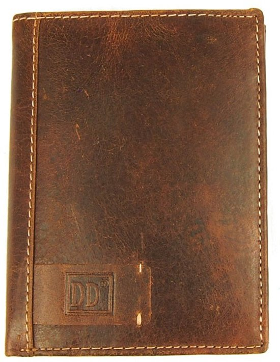 d625750ccfa Heren Portemonnee Hoogformaat - Staand Model - RFID Anti Skim - 12 pasjes -  Cognac Bruin