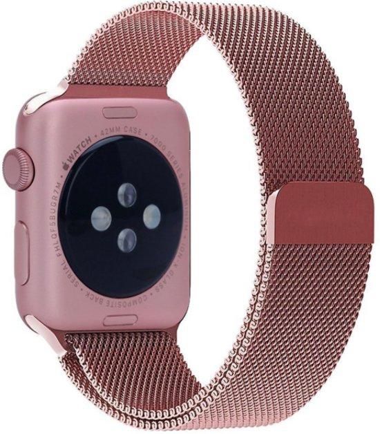 Milanees Bandje Rose Gold geschikt voor Apple Watch 42/44 MM