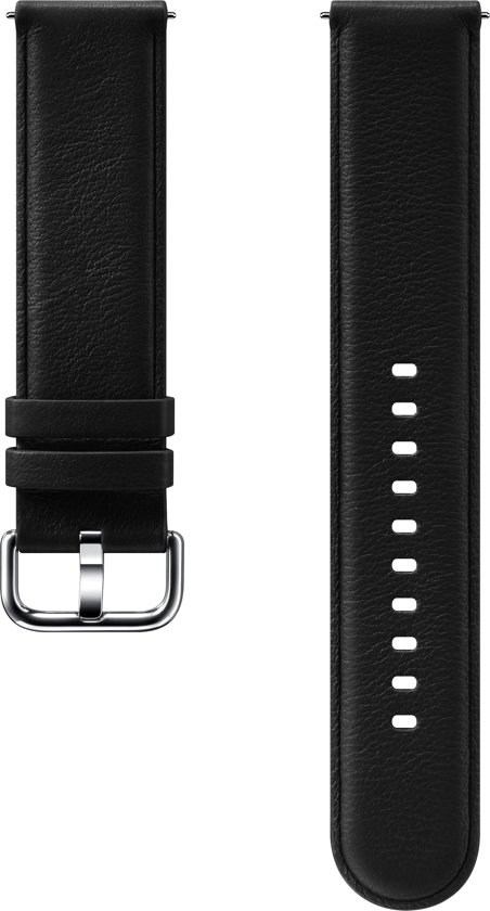 Leather Strap ET-SLR82 - Horlogebandje - zwart - voor Galaxy Watch Active 2