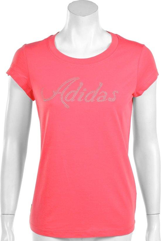 91978c7c4ae bol.com | adidas Glitter Tee - Sportshirt - Dames - Maat S - Roze